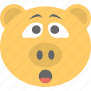 animal, emoticon, pig emoji, pig face, smiley icon