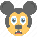 animation, cartoon, character, emoji, mickey mouse icon