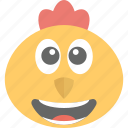 animal, baby chick, chick emoji, happy, hen icon