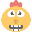 animal, baby chick, chick emoji, hen, irritated icon