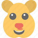 animal, cartoon, emoticon, rat emoji, smiley icon