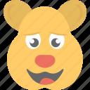 animal, cartoon, emoticon, rat emoji, smiley icon