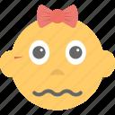 baby emoji, child, confounded, emoticon, kid icon