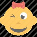 baby emoji, child, emoticon, kid, smirking icon