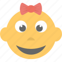 baby emoji, child, emoticon, kid, smiling icon