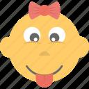 baby emoji, cheeky, child, emoticon, kid icon