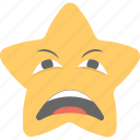 angry emoji, annoyed, smiley, star emoji, worried icon