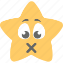 emoticon, lips sealed, silence, speechless, star emoji icon