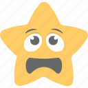confused, smiley, star emoji, upset, worried icon