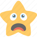 cartoon, confounded face, confused, smiley, star emoji icon
