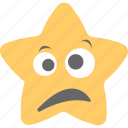 distraught face, exhausted, smiley, star emoji, weary face icon