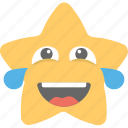 emoticons, laughing, laughing tears, smiley, star emoji