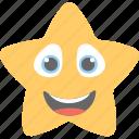 emoticon, joyful, laughing, smiling, star emoji icon