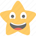 emoticon, joyful, laughing, smiling, star emoji icon