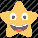 emoticon, joyful, laughing, smiling, star emoji