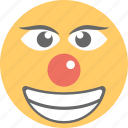 clown emoji, emoji, jester face, joker face, laughing icon
