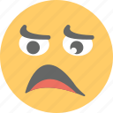 emoji, frowning face, sad emoji, unamused face, unhappy icon