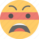angry, annoyed, emoji, frowning face, worried icon