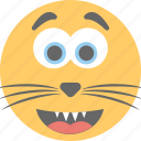 cartoon, cat emoji, cat smiley, emoji, emoticon icon