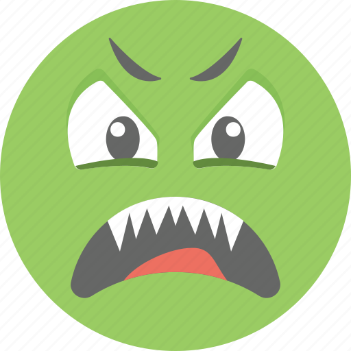 angry smiley, annoyed, emoji, envy emoticon, frowning icon