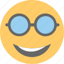 cool emoji, emoji, emoticon, happy face, sunglasses emoji icon
