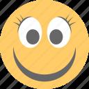 cute, emoticon, eyelashes, long lashes emoji, smiley icon