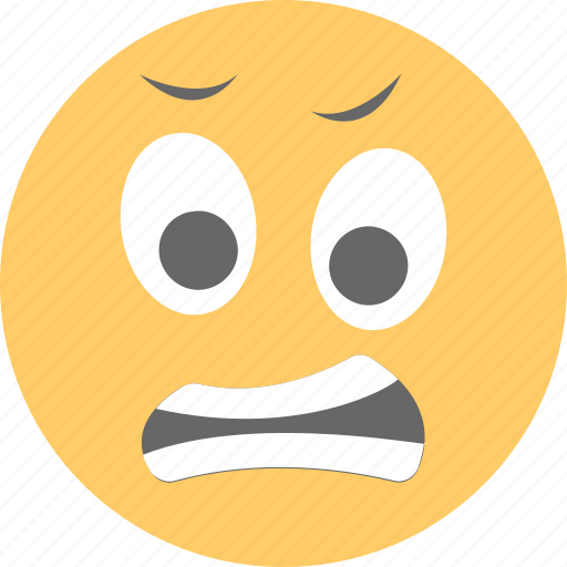 emoji, emoticon, exhausted, grimacing face, irritated icon