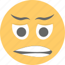 depressed, doh face, emoji, frowning face, unamused face icon
