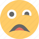 emoji, emoticon, helpless, persevering face, worried icon