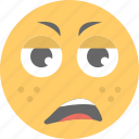 distraught face, emoji, exhausted, smiley, weary face icon