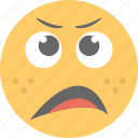 emoji, emoticon, exhausted, tired emoji, tired face icon