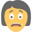 emoticon, girl emoji, sad face, sad girl emoji, unhappy icon