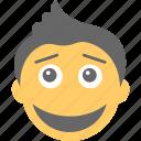 boy emoji, emoticon, joyful, laughing, smiling icon