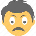 avatar, boy emoji, frowning face, sad emoji, unamused face icon