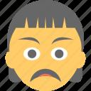 emoticon, girl emoji, sad face, sad girl emoji, unhappy icon