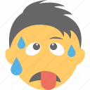 boy emoji, emoticon, exhausted, tired emoji, tired face icon