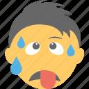 boy emoji, emoticon, exhausted, tired emoji, tired face