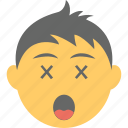boy emoji, confounded face, confused, scrunched eyes, smiley icon