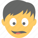 astonished face, boy emoji, shocked, surprised, wondering icon