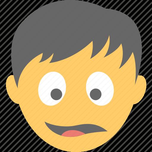 astonished face, boy emoji, shocked, surprised, wondering icon