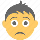 boy emoji, emoticon, sad face, unhappy, worried icon