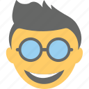 boy emoji, cool emoji, emoticon, happy, smiley icon