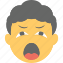 emoji, open mouth, sleepy face, tired, yawn face icon
