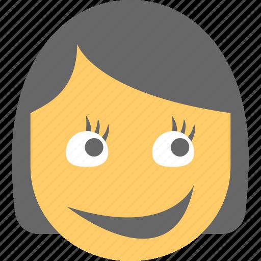 cute girl emoticon eyelashes long lashes emoji smiley icon