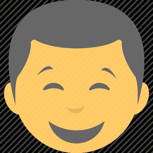avatar, boy emoji, emoticon, joyful, smiling icon