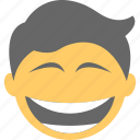 big grin, boy emoji, happy face, laughing, lol icon