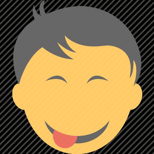 emoticon, naughty, smiley, teasing, winking icon