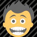 big grin, boy emoji, happy face, laughing, lol icon