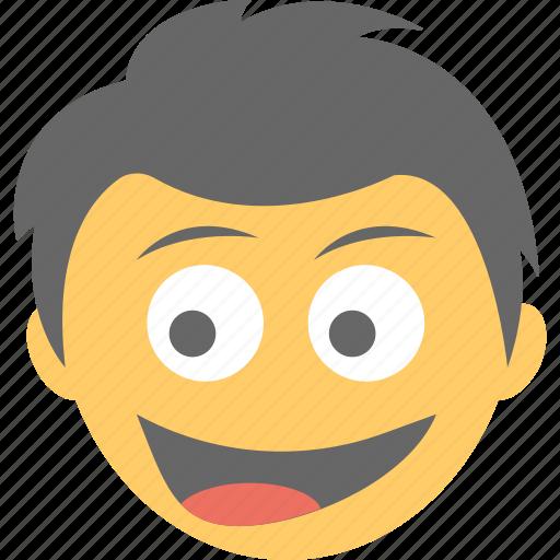 boy emoji, emoticon, jolly face, naughty, smiley icon
