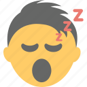 emoticon, open mouth, sleeping face, snoring, zzz face icon
